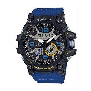 Relógio Masculino Tuguir Anadigi TG6009 Azul