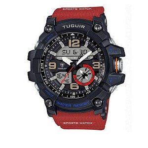 Relógio Masculino Tuguir Anadigi TG6009 Vermelho
