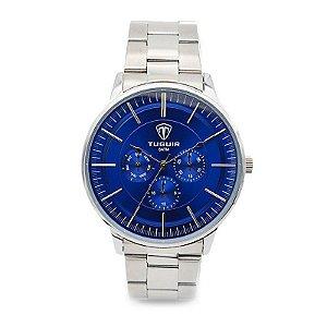 Relógio Masculino Tuguir Analógico 5002 Prata e Azul