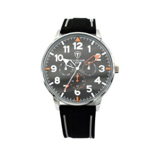 Relógio Masculino Tuguir Analógico 5002 Preto e Prata