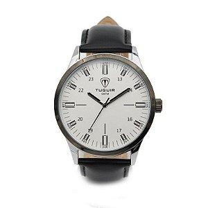 Relógio Masculino Tuguir Analógico 5005 Prata e Preto