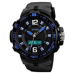 Relógio Masculino Skmei Anadigi 1273 - Preto e Azul