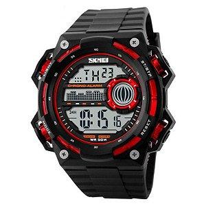 Relógio Masculino Skmei Digital 1115 - Preto e Vermelho