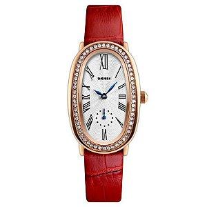 Relógio Feminino Skmei Analógico 1292 - Vermelho