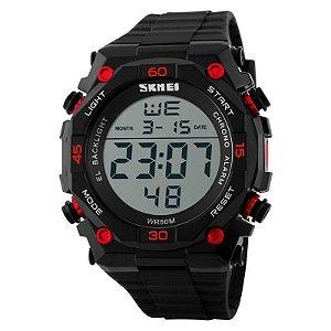 Relógio Masculino Skmei Digital 1130 - Preto e Vermelho