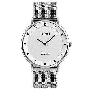 Relógio Skmei Analógico 1264 - Branco/Preto