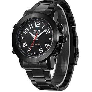 Relógio Masculino Weide Anadigi WH-1105 Preto