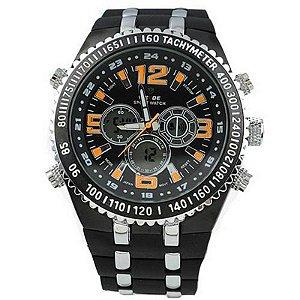 Relógio Masculino Weide Anadigi WH-1107 Casual - Laranja