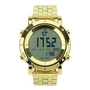 Relógio Masculino Tuguir Metal Digital TG6017 Dourado