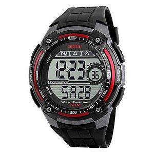 Relógio Masculino Skmei Digital 1203 - Preto e Vermelho