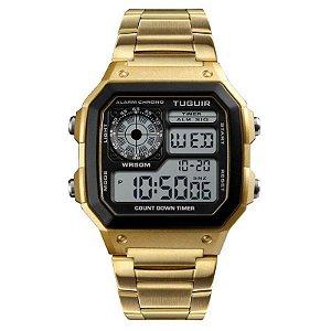 Relógio Unissex Tuguir Digital TG1335 Dourado