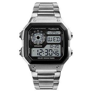 Relógio Unissex Tuguir Digital TG1335 Prata