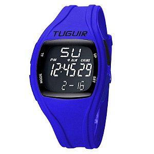 Relógio Unissex Tuguir Digital TG1602 Preto e Azul