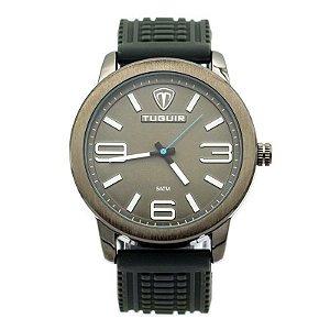 Relógio Masculino Tuguir Analógico 5320G Preto e Cinza