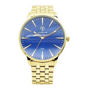 Relógio Unissex Tuguir Analógico 5273G Dourado e Azul