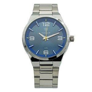 Relógio Masculino Tuguir Analógico 5440G Prata e Azul