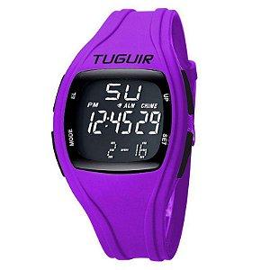 Relógio Unissex Tuguir Digital TG1602 Preto e Roxo