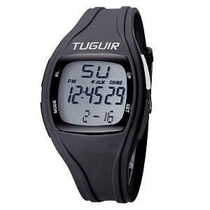 Relógio Pedômetro Unissex Tuguir Digital TG1602P Preto