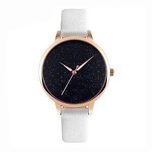 Relógio Feminino Skmei Analógico 9141 Branco e Rose