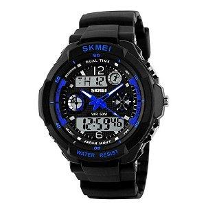 Relógio Masculino Skmei Anadigi 0931 Azul