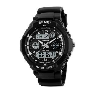 Relógio Masculino Skmei Anadigi 0931 Branco