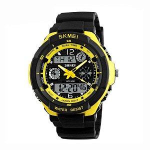 Relógio Masculino Skmei AnaDigi 0931 - Preto e Amarelo