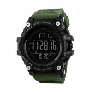 Relógio Masculino Skmei Digital 1384 Preto e Verde