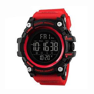 Relógio Masculino Skmei Digital 1384 Preto e Vermelho