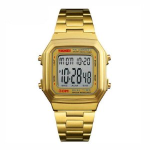 Relógio Unissex Skmei Digital 1337 Dourado
