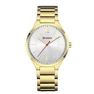 Relógio Masculino Curren Analógico 8280 - Dourado