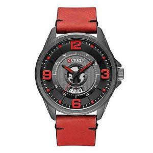 Relógio Masculino Curren Analógico 8305 - Preto e Vermelho