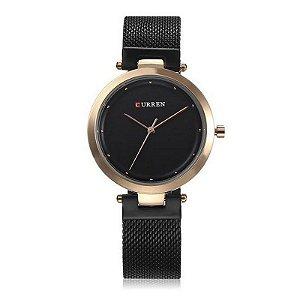 Relógio Feminino Curren Analógico C9005L - Preto