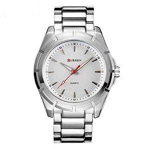 Relógio Masculino Curren Analógico 8112 - Prata