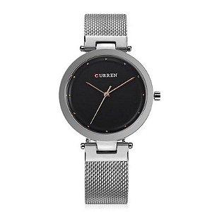 Relógio Feminino Curren Analógico C9005L - Prata