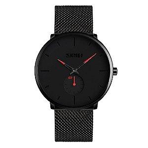 Relógio Unissex Skmei Analógico 9185 - Preto e Vermelho