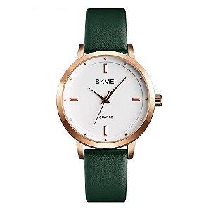 Relógio Feminino Skmei Analógico 1457 - Verde e Rose
