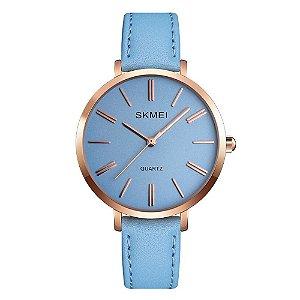 Relógio Feminino Skmei Analógico 1397 - Azul e Rosê