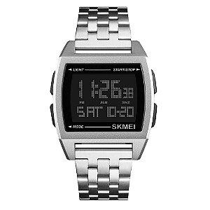 Relógio Masculino Skmei Digital 1368 - Prata e Preto