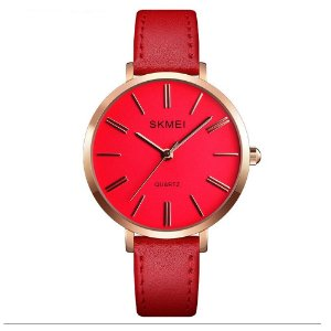 Relógio Feminino Skmei Analógico 1397 - Vermelho e Rose
