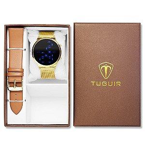 Relógio Feminino Tuguir Digital TG102 - Dourado