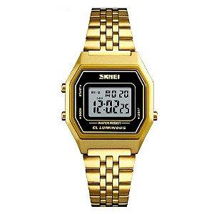 Relógio Feminino Skmei Digital 1345 - Dourado e Preto