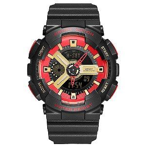 Relógio Masculino Weide AnaDigi WA3J8004 - Preto e Vermelho