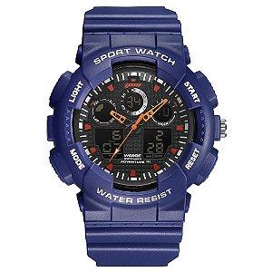 Relógio Masculino Weide AnaDigi WA3J8003 - Roxo e Laranja