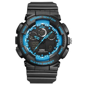 Relógio Masculino Weide AnaDigi WA3J8003 - Preto e Azul