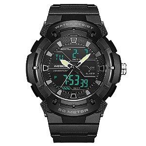 Relógio Masculino Weide AnaDigi WA3J8008 - Preto