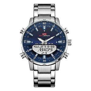 Relógio Masculino Kat-Wach AnaDigi KT1815 - Prata e Azul