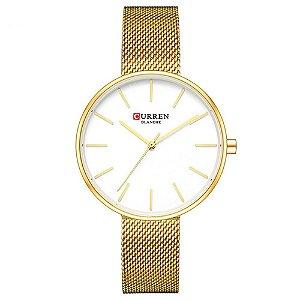 Relógio Feminino Curren Analógico C9042L - Dourado