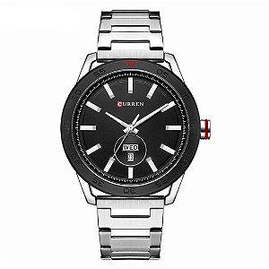 Relógio Masculino Curren Analógico 8331 - Prata e Preto