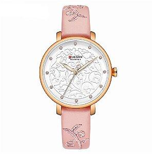 Relógio Feminino Curren Analógico C9046L - Rosa