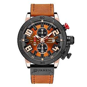 Relógio Masculino Curren Analógico 8312 - Preto e Marrom